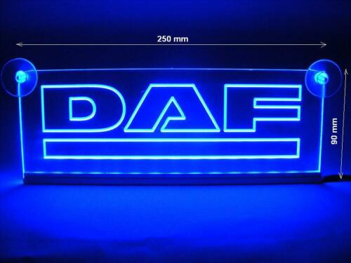 24V DAF Trucks Néon LED Plaque Intérieur Cabine Bleu Clair Illuminant Signe