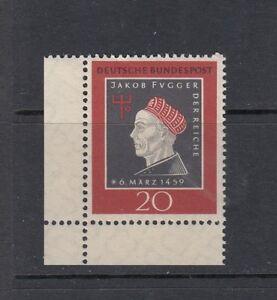 BRD-Mi-Nr-307-Bogenecke-Ecke-Eckrand-3-postfrisch