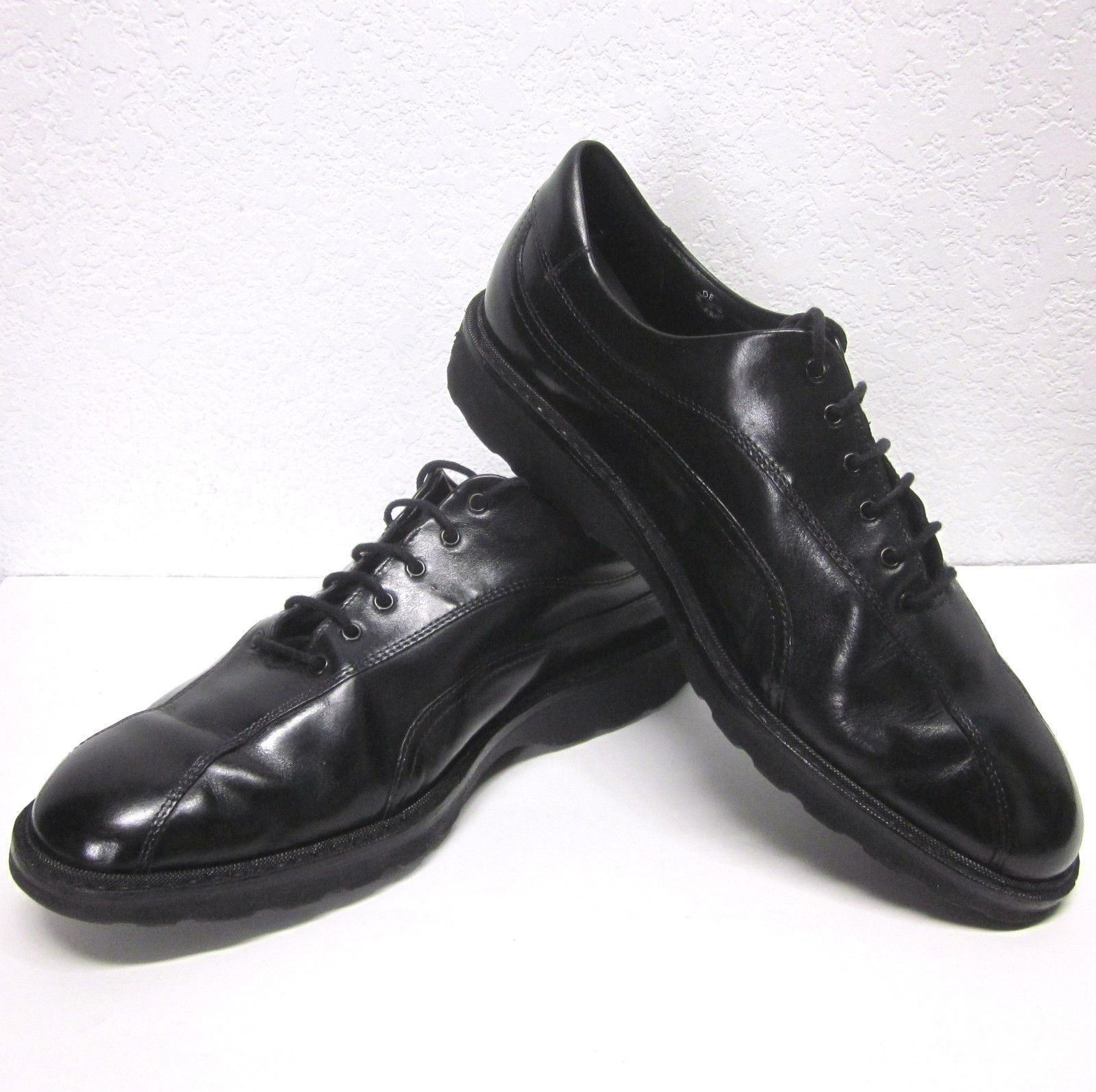 MEPHISTO AIR-RELAX GOODYEAR WELT MEN'S (9) BLACK LEATHER OXFORD DRESS SHOES VGUC