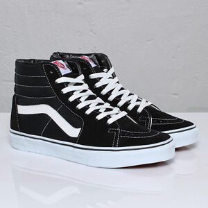 4a43a7e6a84f Image is loading VANS-SK8-HI-BLACK-WHITE-CLASSIC-SKATEBOARDING-CANVAS-