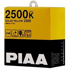 New PIAA 2500K SOLAR YELLOW 2500 H4 Headlight Fog Light Bulbs Driving HY101 F/S
