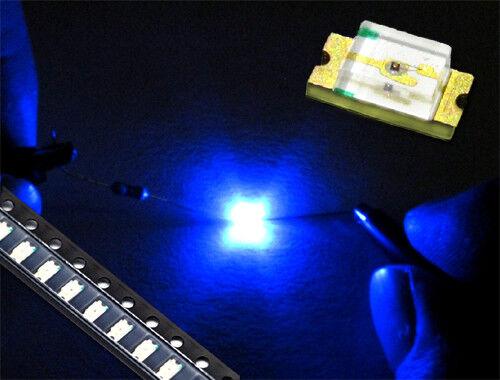 50 Stück SMD LED 1206 BLAU 465-470 nm 160-190 mcd 2.8-3.1 V