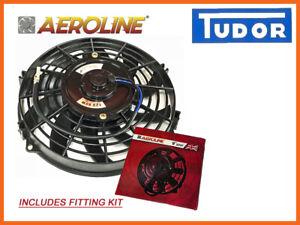 Voiture-Radiateur-Ventilateur-De-Refroidissement-Pousser-ou-Tirer-Universel-9-034-Aeroline