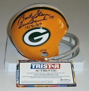 PACKERS-Bart-Starr-signed-mini-helmet-w-Ice-Bowl-12-31-67-Tristar-AUTO-Autograp