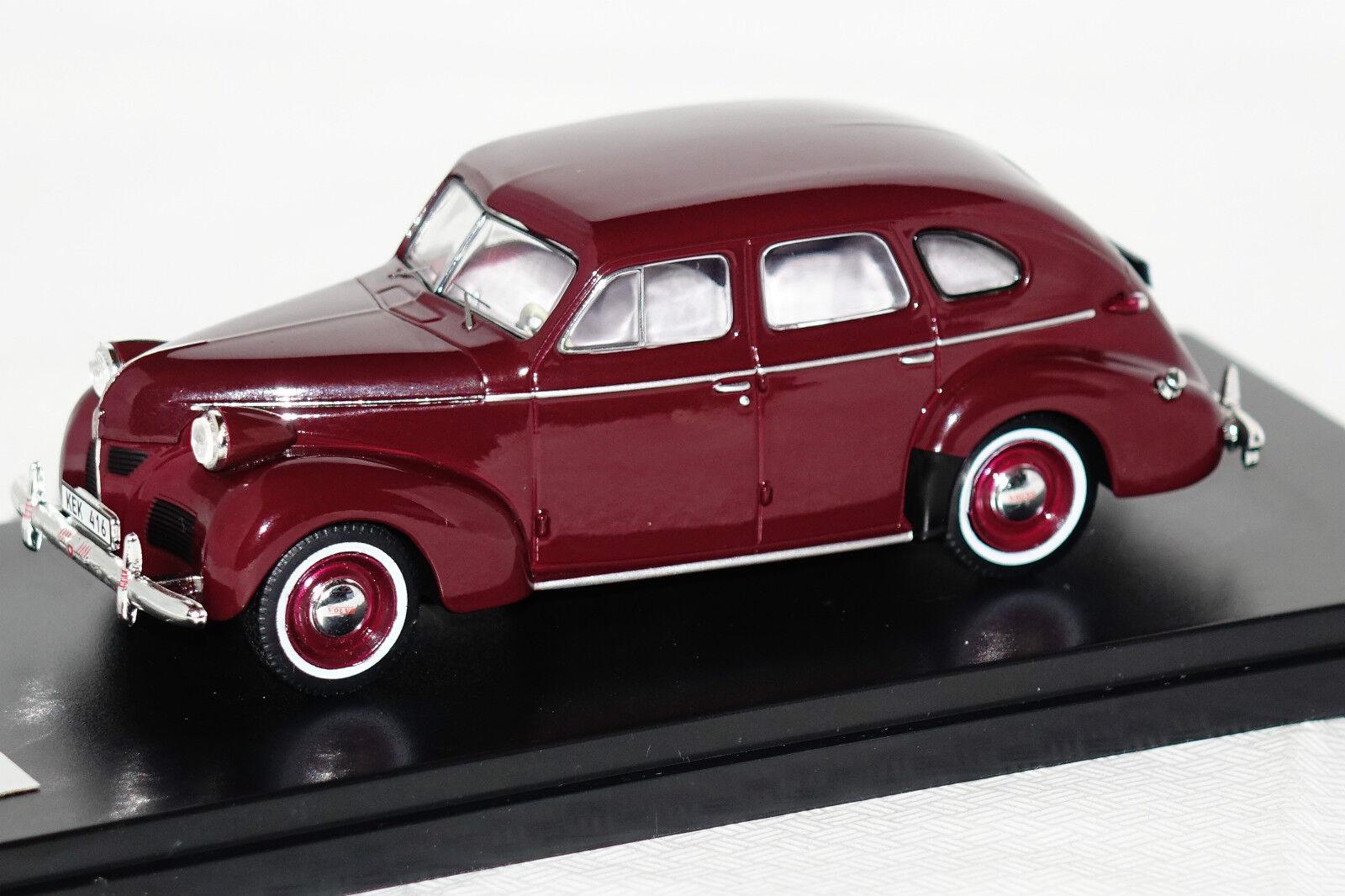 Volvo pv60 1947 Maroon rojo 1 43 Premiumx nuevo con embalaje original prd436