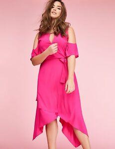 Lane Bryant  Plus Size 18//20 2X Cold Shoulder Pink Jersey Day Dress