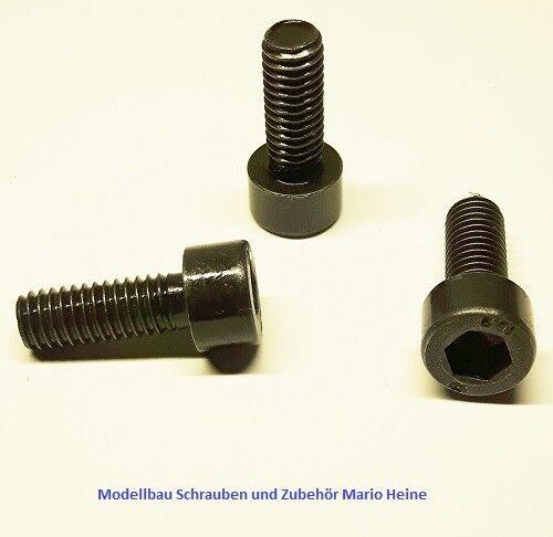 10 Stück Zylinderkopfschraube M6x16mm-schwarz-Stahl-hochfest 10.9 DIN 912