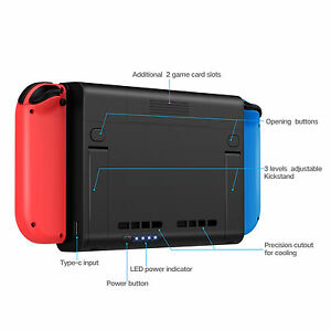 official photos 5ad83 4640b Details about External Battery Stand Holder Backup Case Charger Power Bank  for Nintendo Switch