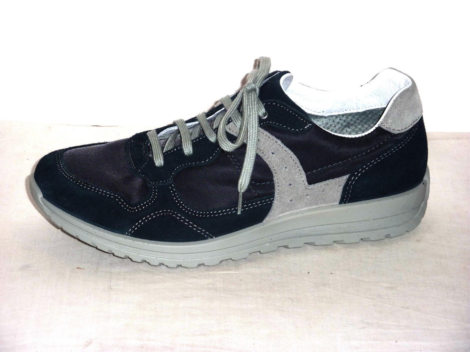 GRI SPORT zapatos hombres CASUAL TENNIS TEMPO LIBERO ALLACCIATE  NABUK azul n. 41