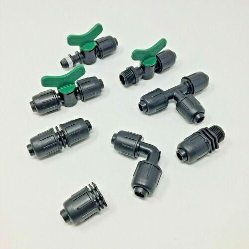 Packung mit 10 Stück Irritec Zylindrische Tropfleinenbeschläge PN4 16 mm