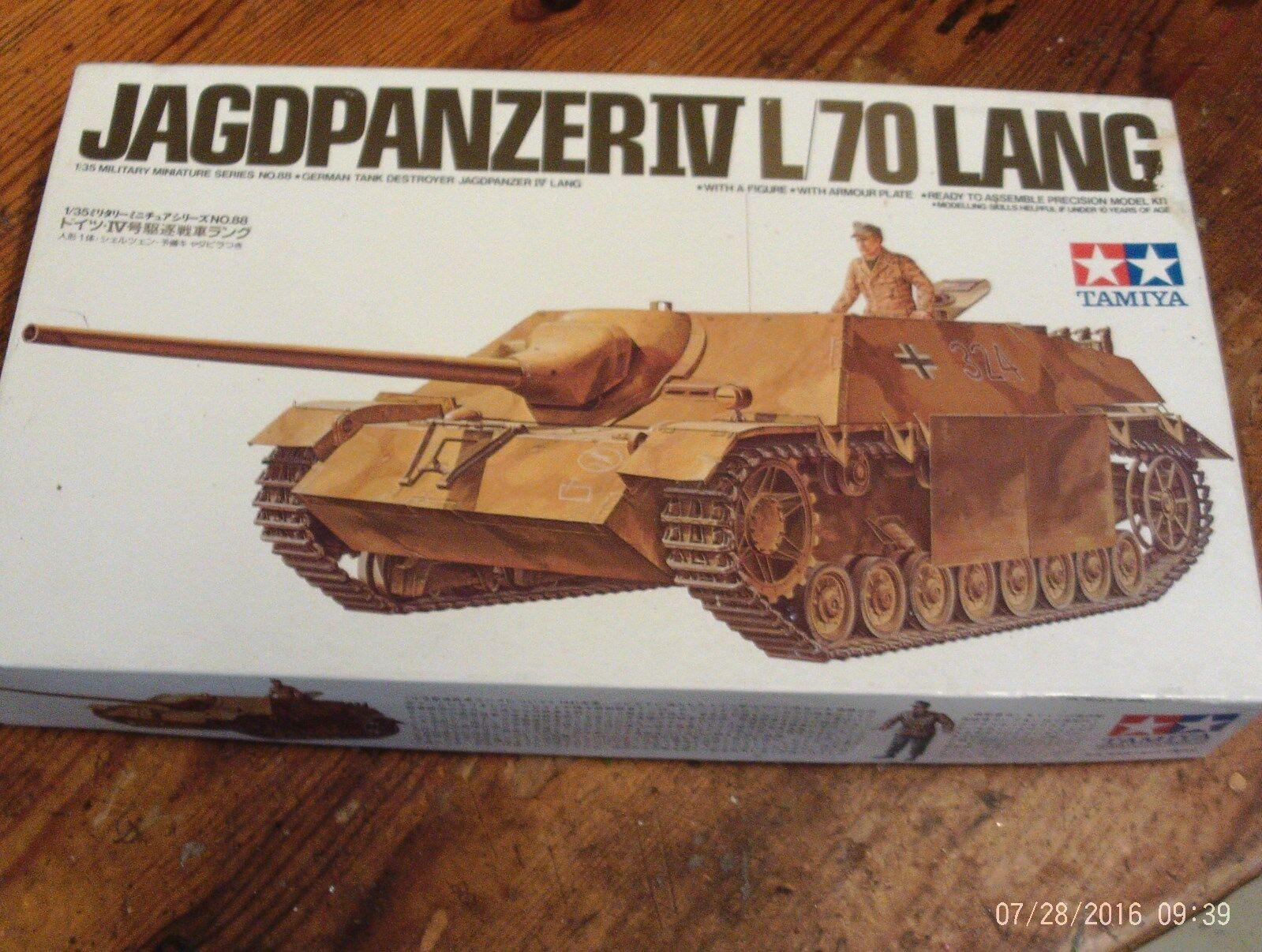 VINTAGE 1970S TAMIYA MODEL KIT WW11 1 35 GERMAN JAGDPANZER IV L 70 LANG.NEW