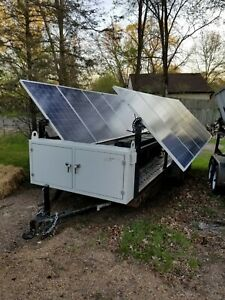 Solar Generator with batteries on trailer - grid-tie or off-grid, 2.5kW
