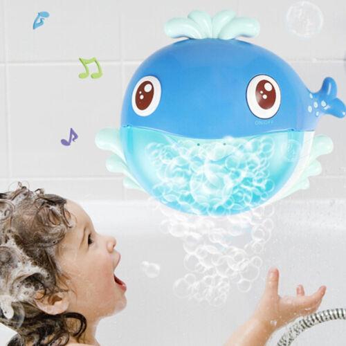 Cartoon whale bubble machine music bubble baby bath shower bathing toys FJP WD