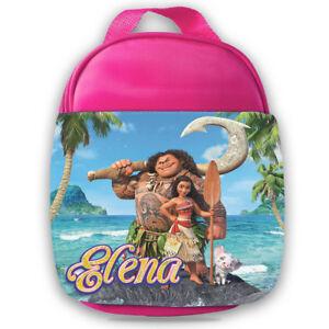 Personalised Kids Backpack Any Name Moana Girl Childrens School Bag