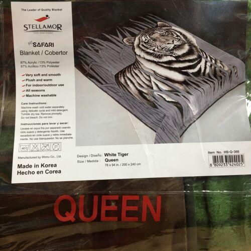 Wonu Hi-Safari Stellamor Original Acrylic Queen Size Korean Tiger Blanket