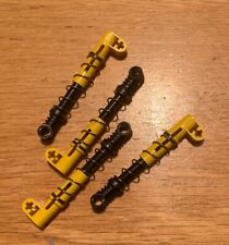 Lego 4x Genuine Technic Bright Yellow Shock Absorbers Suspension NEW 76537