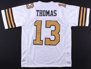 quality design 54f6f cfb92 Details about Michael Thomas Signed Saints Jersey (JSA COA) Pro Bowl Wide  Receiver (2017)
