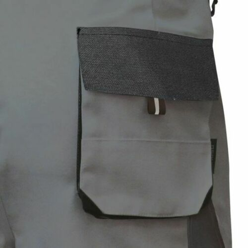 Worker Arbeitshose Bundhose Canvas-Power Berufshose grau-schwarz Größe 42-68