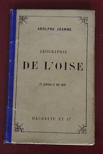 1883-Geographie-de-l-039-Oise-Joanne-10-gravures-1-carte-couleur-Hachette