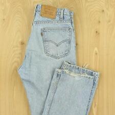 vtg LEVI's 505 fit orange tab jeans 33 x 32 tag light wash faded distressed