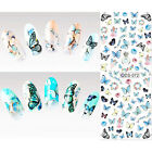 Nail Art Sticker Wraps Water Transfer Decals Flower Rose Tips 3D Nail Decoration