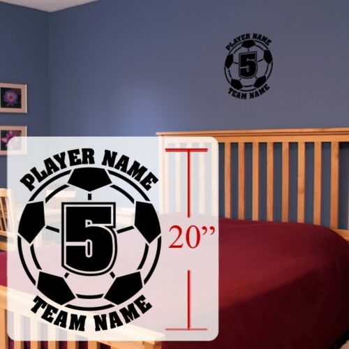 Soccer Wall decal Personalized Soccer futbol Football soccer stickers decal