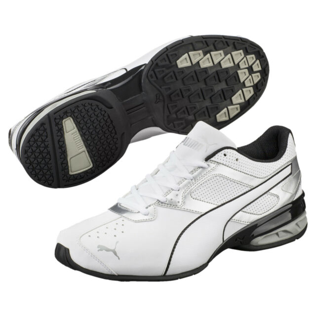 White Synthetic Leather Running Shoes
