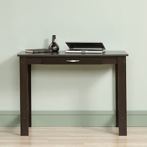 Image Is Loading Writing Desk Table W Pull Out Drawer Brown