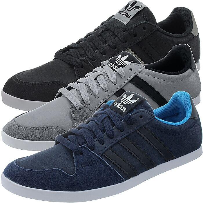 Adidas adilago Low Hombres Zapatillas negro/gris/azul low-top de gamuza nuevo