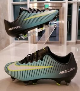 the best attitude 1846b 54f0a Details about Nike Mercurial Vapor XI SG-PRO Women's Teal Yellow Soccer  Cleats SZ (844231-401)
