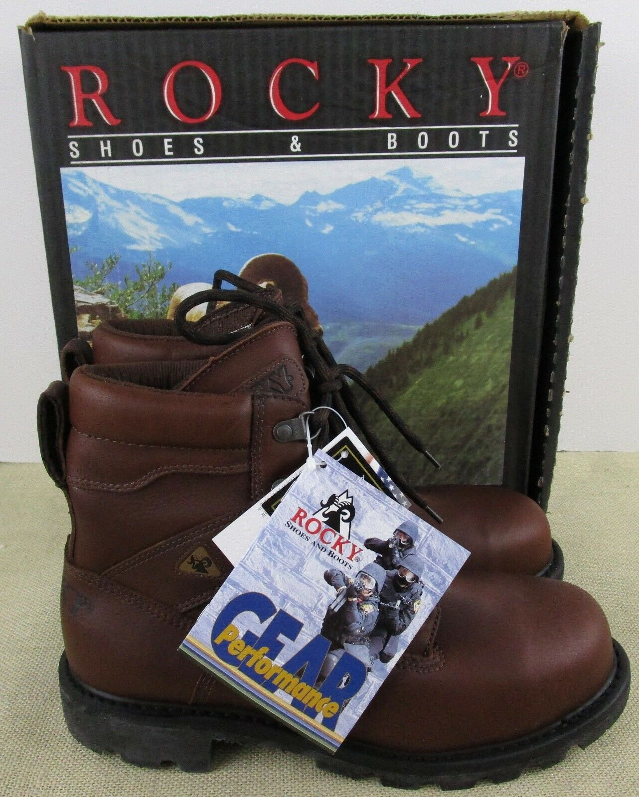 Rocky 6213 6213 6213 FEMMES Ranger Bout en Acier Gore Tex Bottes Neuf en Boîte 4cdb3f