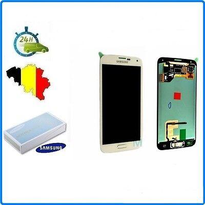 VITRE TACTILE + ECRAN LCD ORIGINAL COMPLET SAMSUNG GALAXY S5 G900F BLANC
