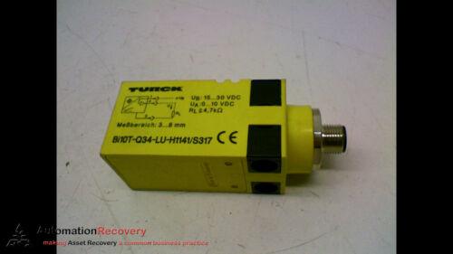 #158065 TURCK BI10T-Q34-LU-H1141//S317 GENERAL PURPOSE SENSOR 15-30V DC RANGE
