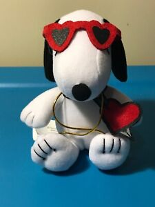 Plush-Peanuts-Snoopy-Valentine-6-034-NO-Candy-by-Whitmans