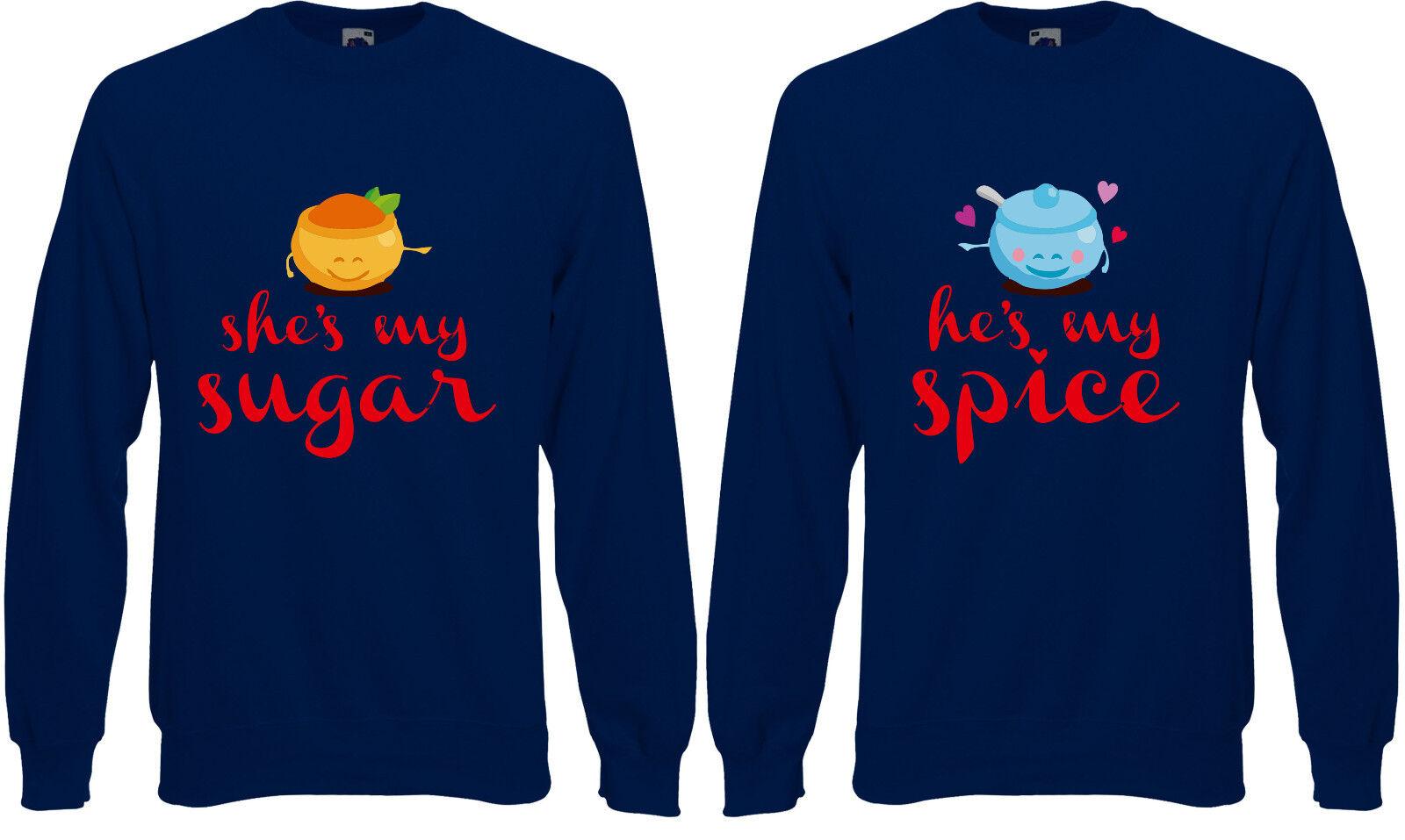 MR Mrs ZUCCHERO E PEPE PEPE PEPE COPPIE San Valentino Unisex Maglione Pullover Pullover aj43 f50dc7