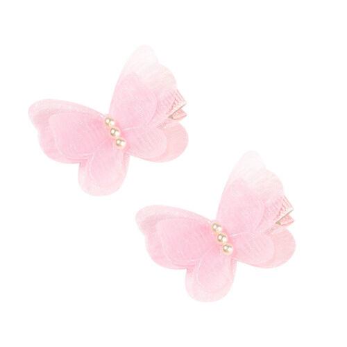 2x Kind Baby Schmetterling Mädchen Haarnadel Headwear Haarspange Zubehör