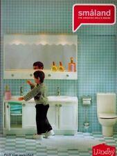 Lundby Smaland 60.2088 Bad Set WC - Waschtisch mit Spiegel für Puppenhaus 1:18