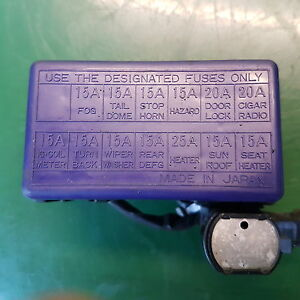 SUZUKI VITARA MK1 96 2.0 TD DIESEL ENGINE BAY FUSE BOX | eBay