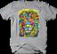 Multicolor-Neon-Color-Majestic-Lion-King-of-Jungle-Big-Cat-Safari-T-shirt thumbnail 4