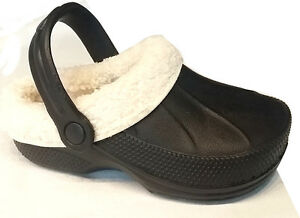 Nuevo zapatillas zuecos zapatos Zapatillas con forro - Talla 30-35 Negro