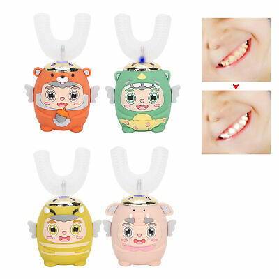 Children Sonic Electric Auto Toothbrush U-shaped Brush Teeth Cleaner Whiten Oral