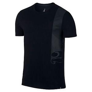Men Air Jordan Pure Money Department of Flight T-Shirt Black [Z ...