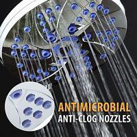 Aquadance® Antimicrobial 6-setting High Pressure Rain Shower Head W/microban®