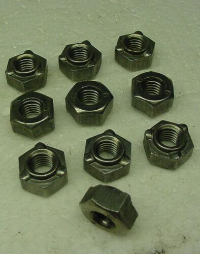 10 x Weld Nuts 8mm 1.25mm metric 15mm head fender panel exhaust door panel frame