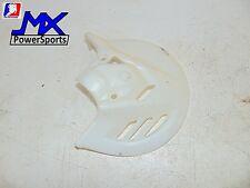 2013 Honda CRF 250 Front Brake Guard, Cover, Plastics, White, OEM, Brakes,