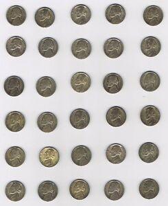 Lot of 83 Silver War Nickels 1942-1945 Jefferson Silver Nickels