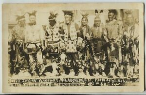 Early-Sioux-Indian-Warriors-McLaughlin-South-Dakota-Real-Photo-RPPC-Saterlie