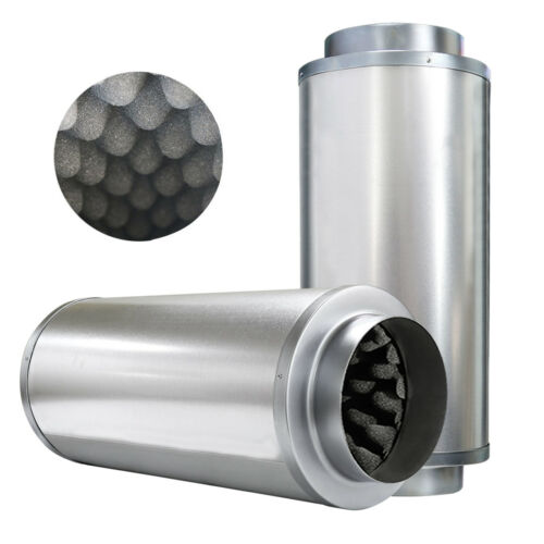 "VIVOSUN 4/"" 6/"" 8/"" inch Duct Muffler Inline Fan Silencer Noise Reducer Hydroponics"