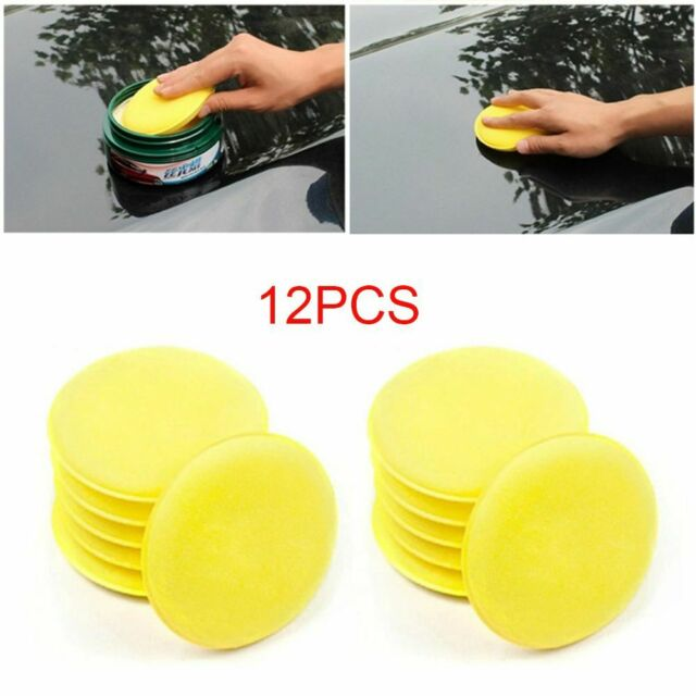 12PCS Car Waxing Foam Sponge Polish Applicator Cleaning Detailing Pads
