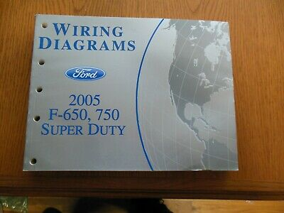 ford f650 super duty fuse diagram 2005 ford f650  750 super duty wiring diagrams  factory manual  ebay  2005 ford f650  750 super duty wiring
